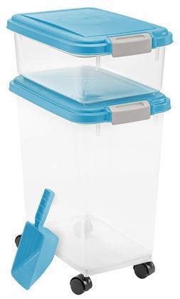 IRIS USA, Inc. 3- Piece Airtight Pet Food Storage Container