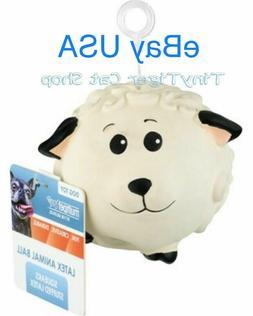 Multipet Ani-ball Latex Animal Ball Squeaker Dog Toy Sheep