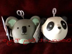 Multipet Animal latex squeaker ball dog toy set of TWO panda