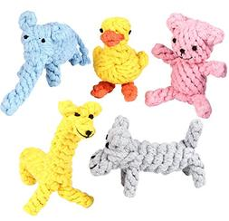Pustor Animals Durable Chew Cotton Rope Toys Puppies Dog Toy