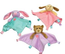 """Ethical Pets 10"""" Assorted Soothers Blanket Pet Toys"""