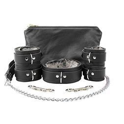 Atlas Fur Ankle Wrist Cuffs Fur Collar Chain Leash Set Softe