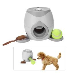 Automatic Interactive Ball Tennis Launcher Dog Pet Toys Thro