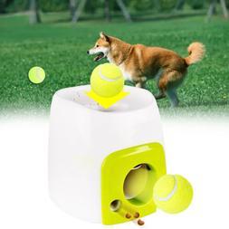 automatic interactive ball tennis launcher dog pet