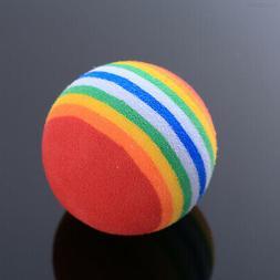 B718 Small Dog Puppy Cat Pet Rainbow Ball Play Chew Training