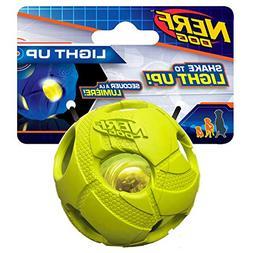Nerf Dog Small LED Bash Ball Light-Up Green Dog Toy