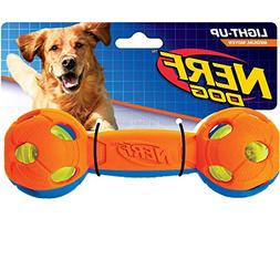 Nerf Dog 3353 Medium 2-color LED Bash barbell, Pet Squeak To