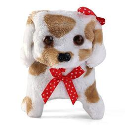 Battery Operated Plush Puppy Toy Dog Walking Barking Tail Wa