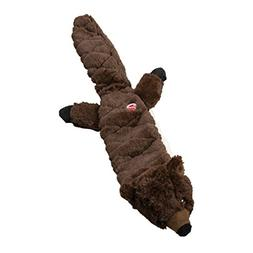 beaver skinneeez stuffingless quilted dog