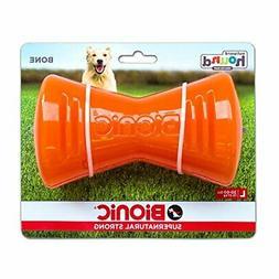 Outward Hound Bionic Bone Orange Large Dog Chew Toy. **Free