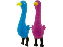 """Bird Dog Chew Toy - Squeaker - BLUE - 9"""" - US Seller - puppy"""