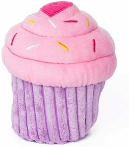 birthday cake and cupcake squeaky dog toy