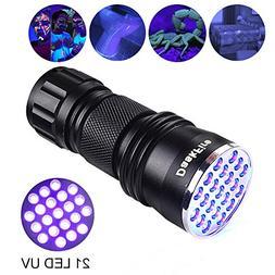 Black Light UV Flashlight,DaskFire 21 LED Blacklight Premium