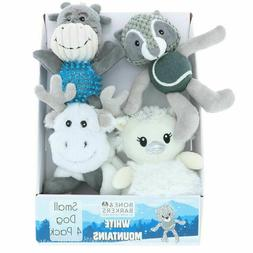 Bone & Barkers White Mountain Dog Toys, Small, 4 Pack