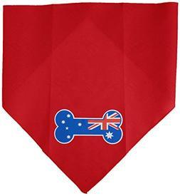 Mirage Pet Products Bone Flag Australian Screen Print Bandan