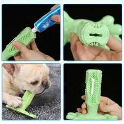 Bone Shape Pet Dogs Rubber Chew Toys Teeth Brushes Wearable
