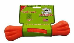 "Jolly Pets Bone Toy, 9"", Orange"