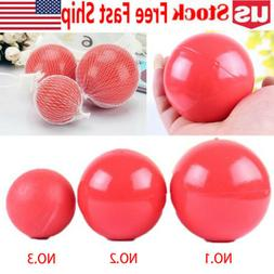 Boomer Red Ball Indestructible Solid Dog Toy Various Size Pe