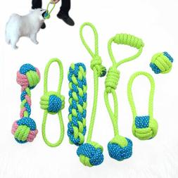 Braided Cotton Dog Chews Interactive Toys Dogs Bite Training