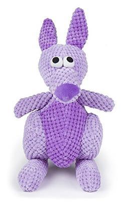 Small Breed Dog Toys, Purple Kangaroo Tough Squeaky Cute Stu