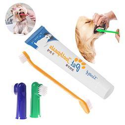 Hibyebuying Medium Bristle Toothbrush,Cute Pet Dog Puppy Rub