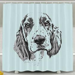 Xiaobaby Brittany Spaniel Classic Shower Curtain 6072inch