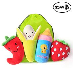 Bseen Squeaky Dog Toys, Dog Squeak Toys for Pets, Squeaky Pl