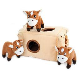 ZIPPY BURROW HORSE 'N HAY by Zippy Paws - COMES WITH 3 SQUEA