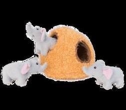 ZippyPaws - Burrow Interactive Plush Puzzle Dog Toy - Elepha