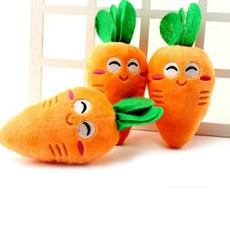 carrot plush chew squeaker cute puppy pet