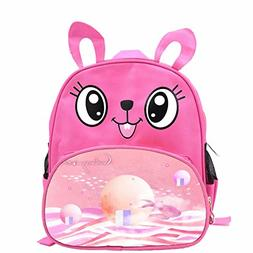 Cartoon Little Rabbit Kid's Backpack 12 inch Pink Child Wate
