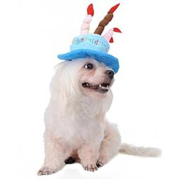 Tinksky Cat Dog Pet Happy Birthday Party Hat with Cake and 5