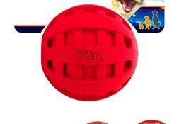 Nerf Dog Checker Squeak Rubber Ball Dog Toy, Small/Medium, R