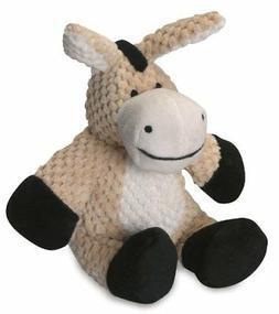 goDog Checkers Donkey With Chew Guard Technology Tough Plush