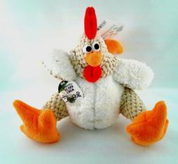 goDog Checkers Fat Rooster Chew Guard Technology Tough Plush