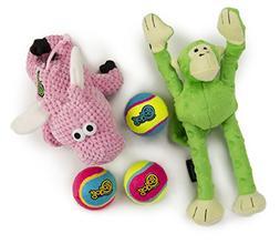 goDog 3 Count Checkers Flying Pig Plush Toy, Retrieval Ultim
