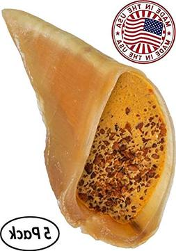 Pawstruck Cheese & Bacon Filled Cow Hooves for Dogs - Made i