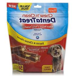 HARTZ Chew 'n Clean DentaTreat for Tiny/Small Dogs,56-Pack
