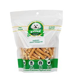 Lucky Premium Treats Chicken Wrapped Rawhide Dog Chews by, G