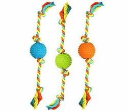 "Boss Pet Chomper extra tough & Colorful 19"" Rope with TPR Sp"