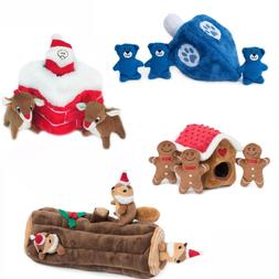 ZippyPaws Christmas Burrow Dog Toy- Gingerbread House, Yule