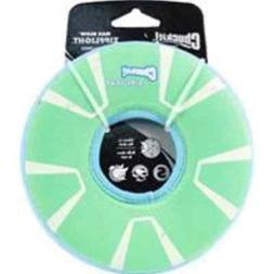 Chuckit! Zipflight Max Glow Dog Toy GREEN & WHITE SMALL