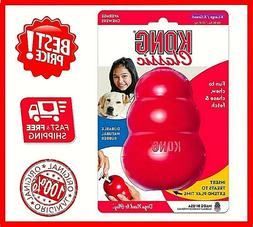 KONG CLASSIC Red Dog Toy treat rubber X Large, New, Free&Fas