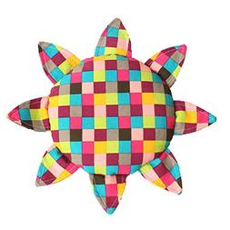 Colorful Grid Soft Cloth Frisbee Outdoor Sports Toy for Kids