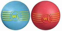JW Pet Company iSqueak Ball Rubber Dog Toy, Colors Vary Medi