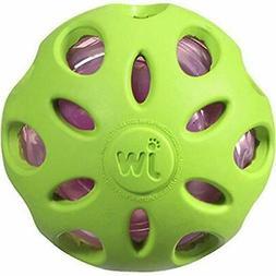 JW Pet Company Crackle Heads Crackle Ball Dog Toy Plastic Bo