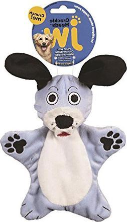 JW Pet Company Crackle Heads Dougie Dog Toy, Medium