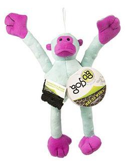 goDog Crazy Tugs Monkeys with Chew Guard Technology Plush Sq