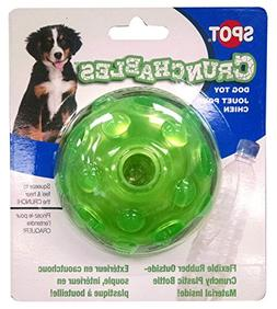 """Ethical Pets Crunchable Ball Dog Toy, 3.5"""""""
