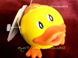 Multipet latex Animal ball Yellow Duck squeaky 3 inch dog to